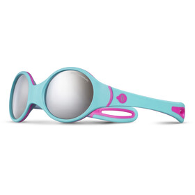 Julbo Baby 2-4Y Loop Spectron 4 Sunglasses Turquoise/Gray/Fluorescent Pink-Gray Flash Silver